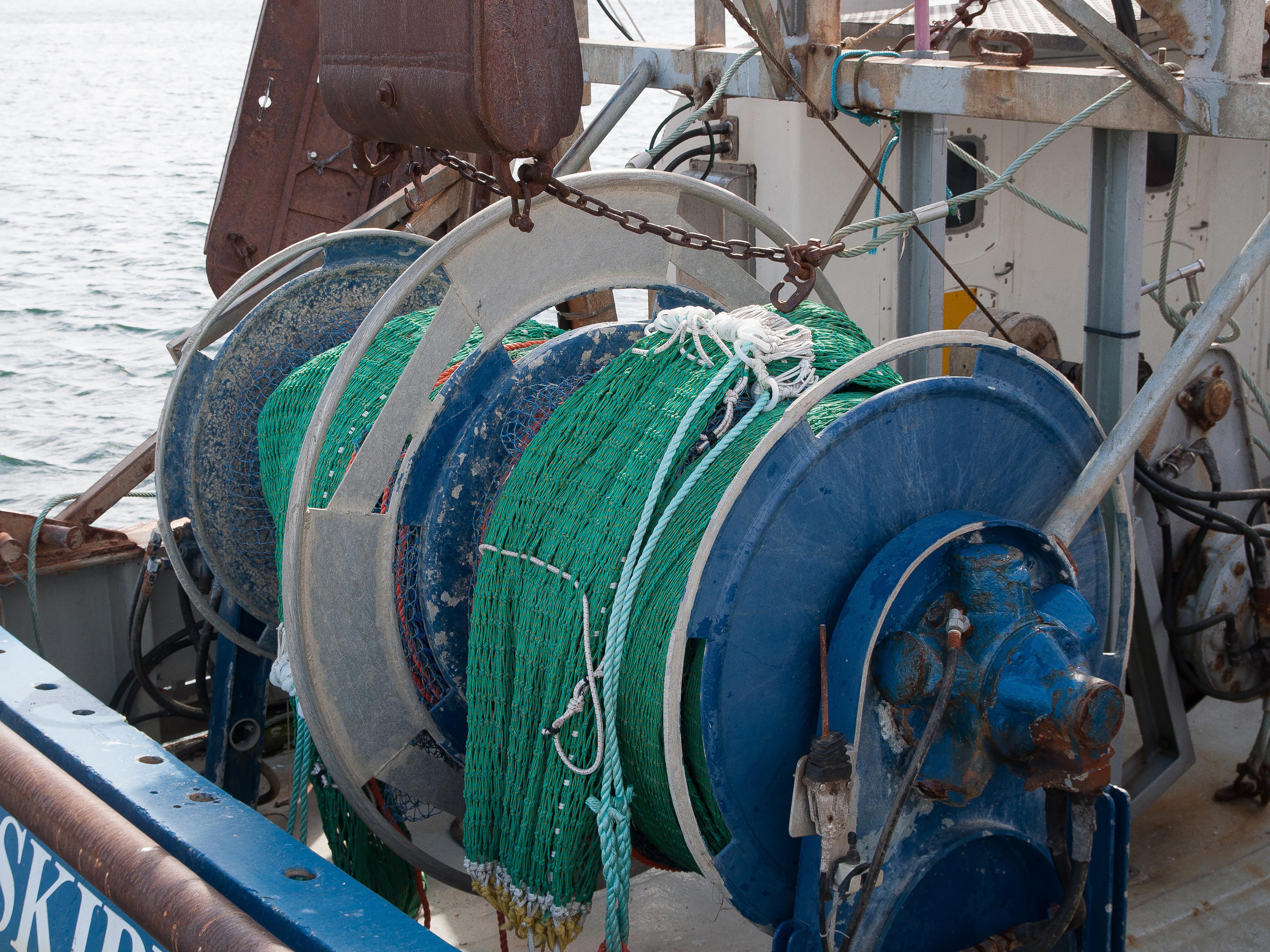 trål på fiskebåt