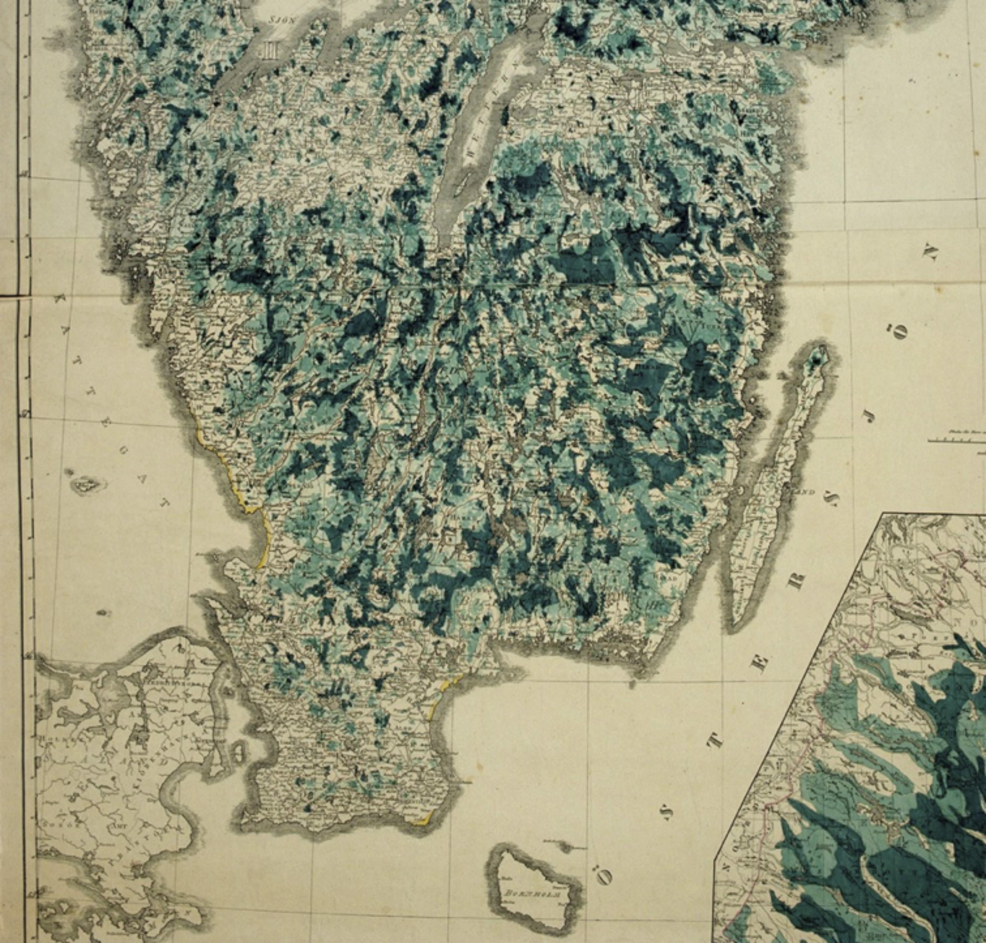 Prins Karls skogskarta från 1846