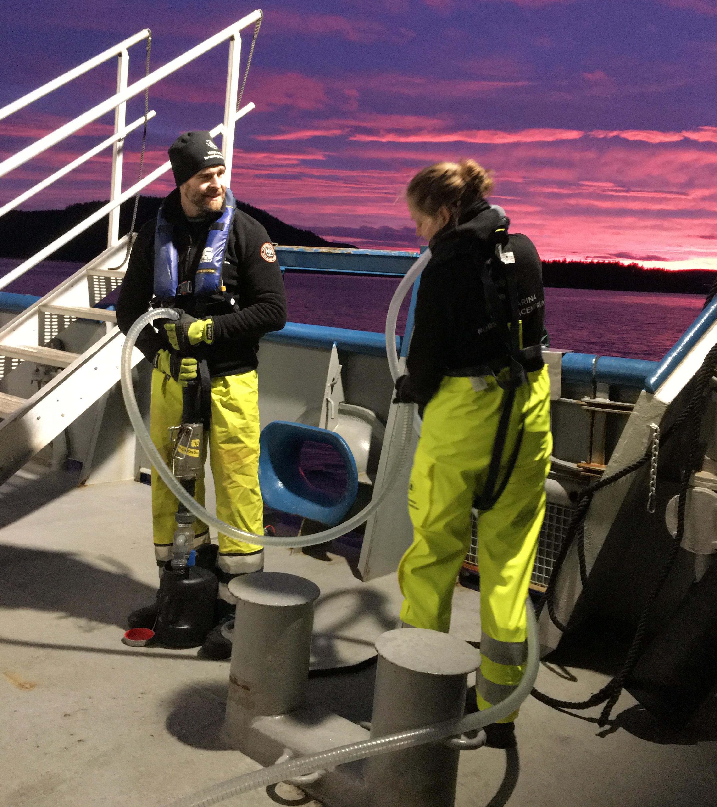 vattenprovtagning ombord på fartyg