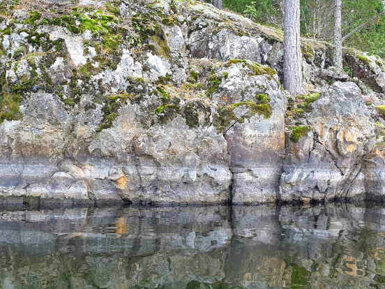 Vattennivåmärken vid sjön Lien