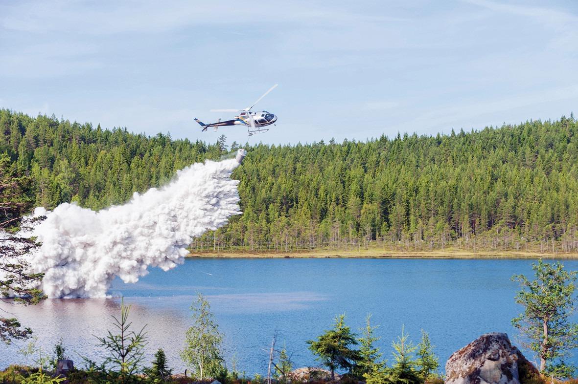 helikopter kalkar insjö
