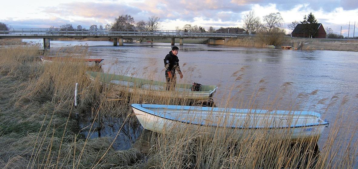Provtagning av vattenkemi i Helgeån