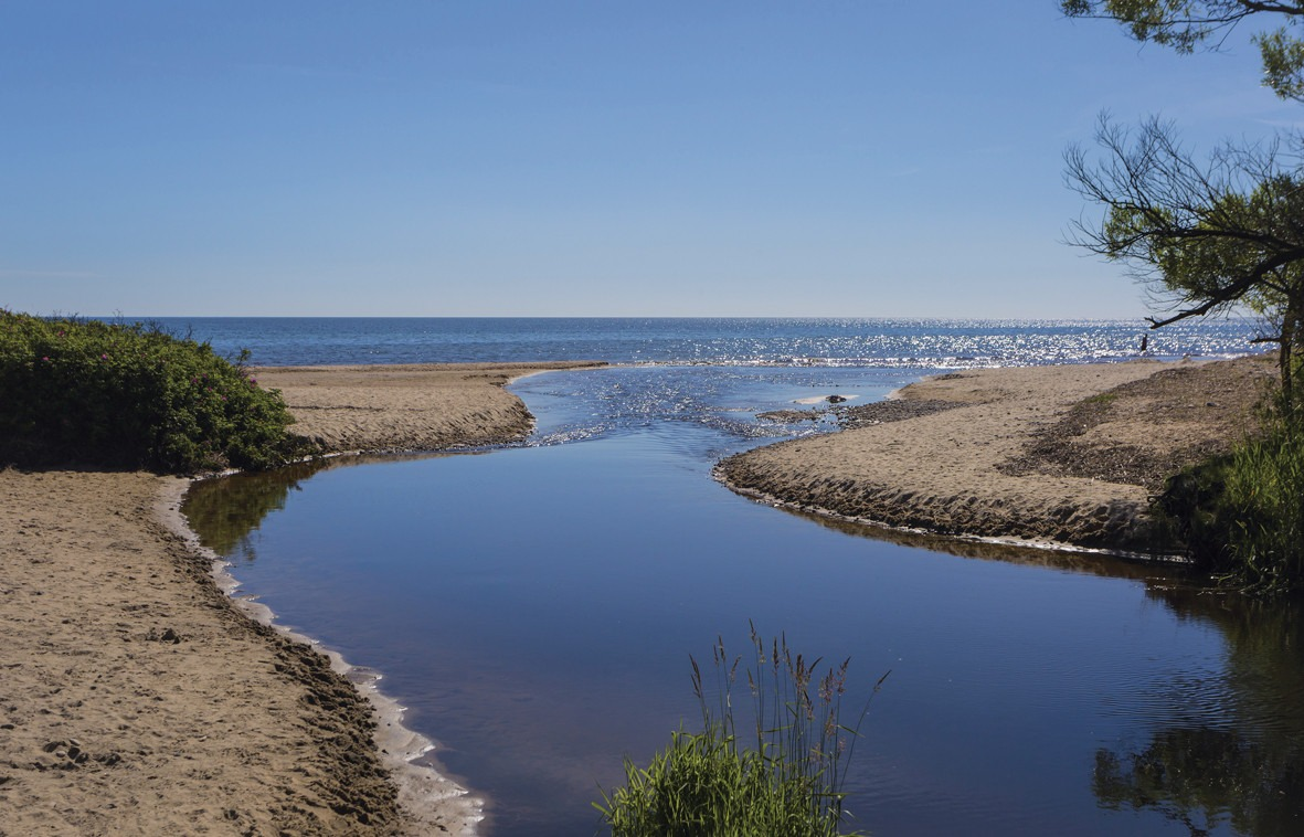 Verkeåns mynning i Östersjön