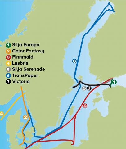 Ferrybox-system i haven runt Sverige. Antalet parametrar som mäts varierar. På vissa av fartygen sker regelbunden vattenprovtagning.