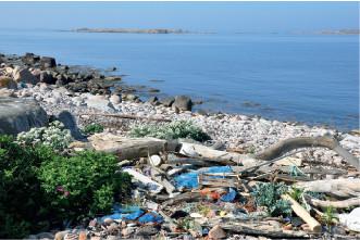 Marint skräp är ett stort problem både i vattnet och när det flyter upp på land. Ultraviolett ljus från solen gör att plastskräpet med tiden blir skört och fragmenterar. Till slut bryts därför även större plastskräp ner till mikroplast.