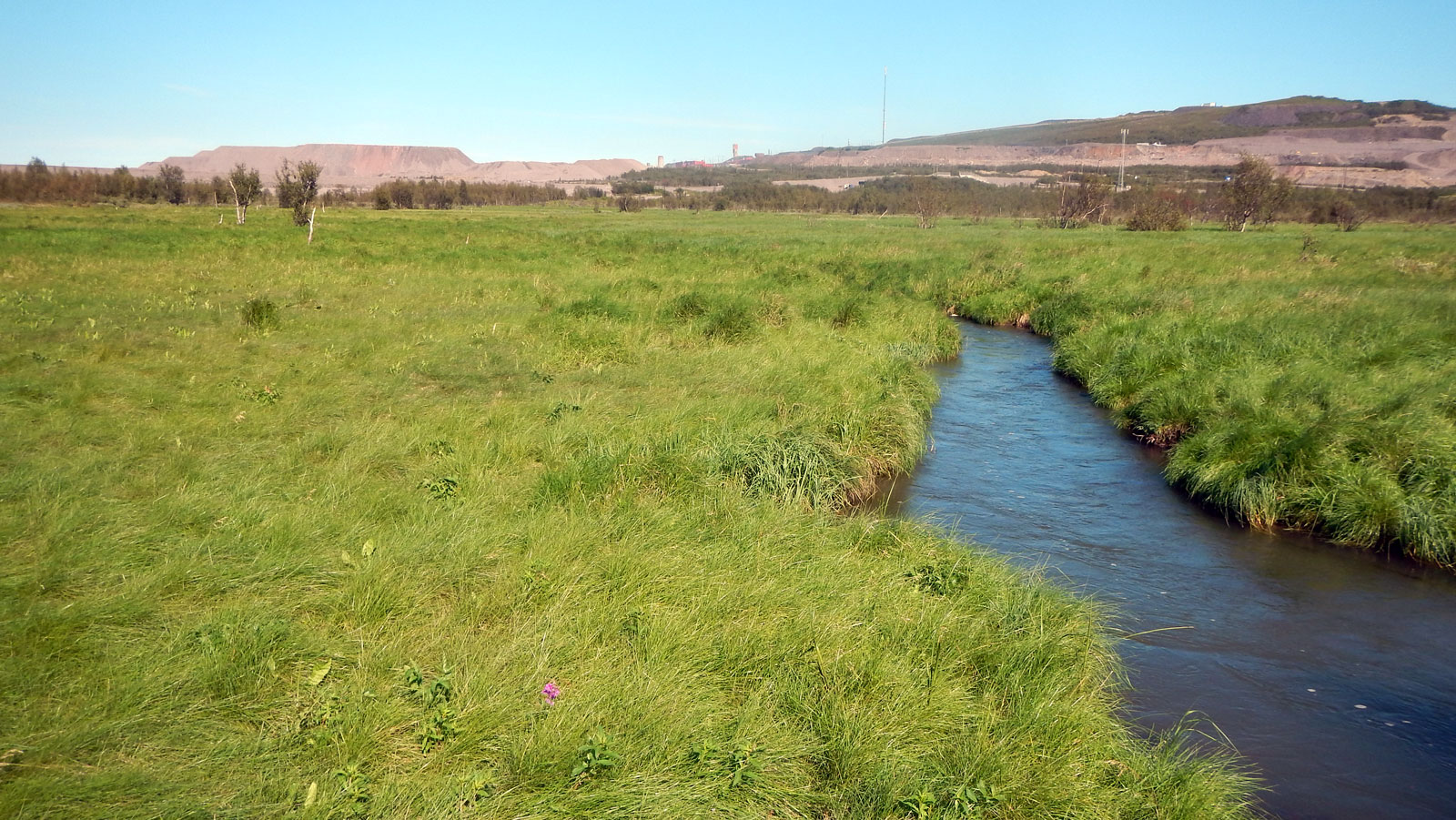 Foto av processvatten från gruvan Kiirunavaara